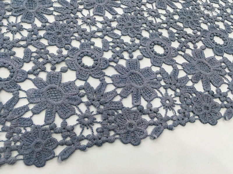 Piece Dyed Chemical Lace Embroidery Fabric