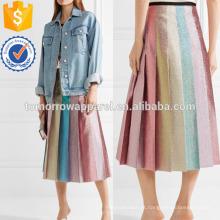Plissado manequim Midi saia fabricação atacado moda feminina vestuário (TA3051S)