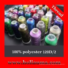 100 % polyester coton à broder pour Machine à broder informatisée