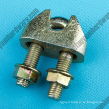 Galvanzied fonte malléable câble Clip DIN1142