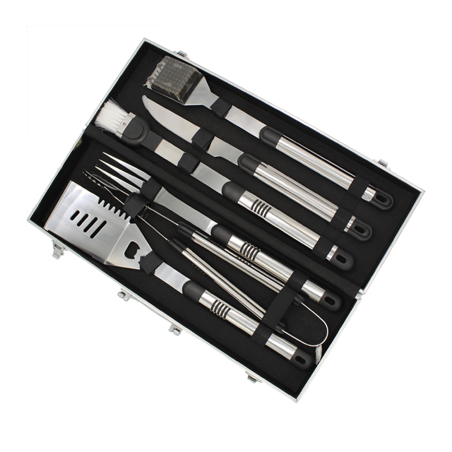High Quality 6pcs Barbecue Tools Set With Case