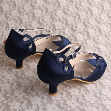 Navy Summer Occasion Sandals Shoes Low Heeled