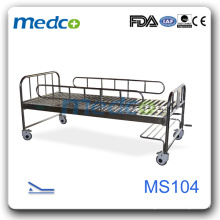 Stainless steel hospital bed frame with leg MS104