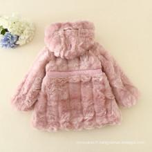 enfants de haute classe d'hiver vêtements duoduo princesse rose manteaux vestes chaudes fourrures douces noël pour 2 ans filles velues