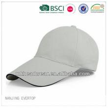 Wholesale plain and cheap cotton sport cap with sandwich for promotion