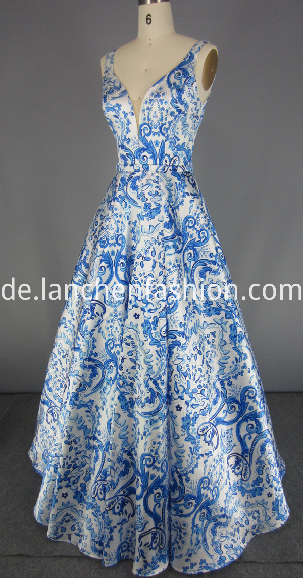 Flower Evening Gown Women