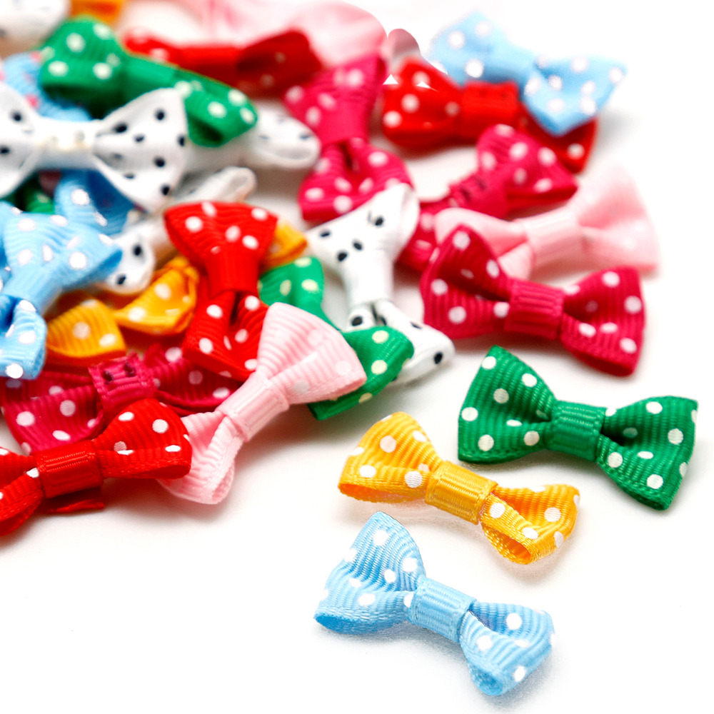 Dot Ribbon Bow All Color