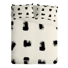 Printed polyester microfiber fabric for bedding sheet