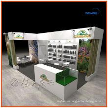 Exhibición comercial modificada para requisitos particulares reutilizable del sizi y del diseño exhibición exhibición del stand de la exhibición de la exhibición