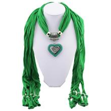 China fertigen hochwertigen gedruckten Stein Halskette Quasten Ebene Anhänger Schal Großhandel