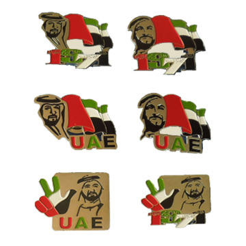 United Arab Emirates National Day Metal Badges