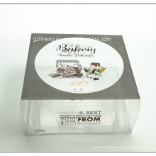 Boîte en plastique transparente imprimée par coutume de gâteau de PVC (boîte de emballage de gâteau de pp)