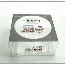 Caja de plástico transparente impresa de encargo de la torta del PVC (caja de embalaje de la torta de los PP)