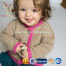 Мягкий ребенок носит детская одежда карманы милый Кашемировый кардиган с кнопки