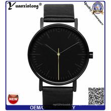 Yxl-308 Настроить логотип Япония Movt Кварцевый кожаный ремешок Марка моды Повседневный Мужские женские часы