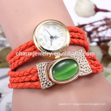 Latest bracelet watch with genuine leather band/lady wrist watches for women BWL021