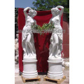 Резной мраморной статуи камень резьба скульптуры сада орнамент для украшения (SY-X1075)