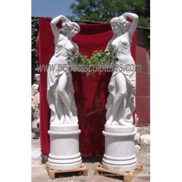 Geschnitzte Marmor Statue Stein Carving Skulptur Garten Dekoration (SY-X1116)