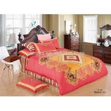 100% algodón de satén Oriental edredón conjunto de ropa de cama Twin Full Queen tamaño King