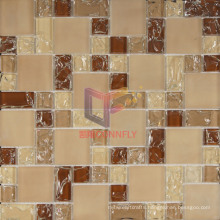 Beige and Brown Matt Crystal Ice-Cracked Mosaic (CCG200)
