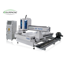 Multi-process 4axis IGW- 1325 wood cnc router with rotary device