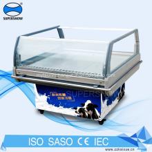Portable Mini Freezer Glass Door On Wheels
