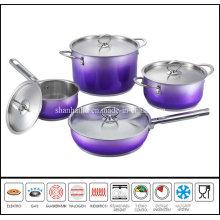 8PCS Colour Steel Cookware Set