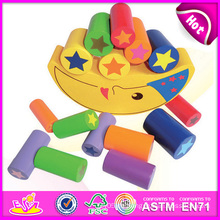 2014 Holz Balance Intelligenz DIY Block Spielzeug für Kind, Holz Mond Balance Baustein Spielzeug, Farbe Mond Block Spielzeug W11f031