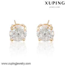 92285 xuping позолоченные белый камень серьги