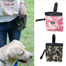 Camouflage Design Pet Dog Treat Dispenser Treat Bag Outdoor Dog Training Pouch
