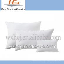 100% coton en gros plaine blanche taie d'oreiller en lin