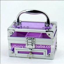 Причудливая раковина фиолетовый прозрачный Малый макияж Box