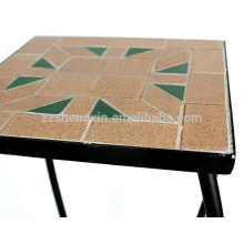 plant holder metal mosaic square table