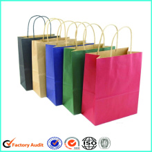 Bolsas de viaje blancas de papel Kraft Handle Brown