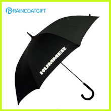"""23 """"paraguas de plástico curvado promocional aduana imprimible de la lluvia del regalo de la manija"""