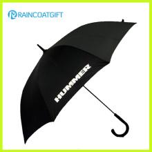 """23 """"costume imprimiram o guarda-chuva plástico curvado relativo à promoção do chuva do presente do punho"""