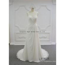 Vestido de noiva destacável de um ombro inchado casamento nupcial