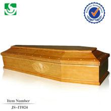 Europeu padrão sólido caixão de madeira