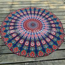 Serviettes de plage rondes en forme de cercle imprimées sur mesure