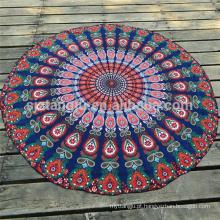Toalhas de praia redondas impressas costume da forma do círculo