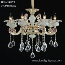 remote control led crystal chandelier candle light