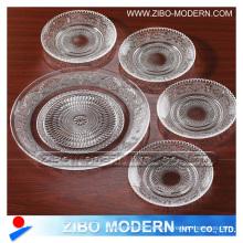 Placas de cristal del claro de la manera al por mayor 5PC