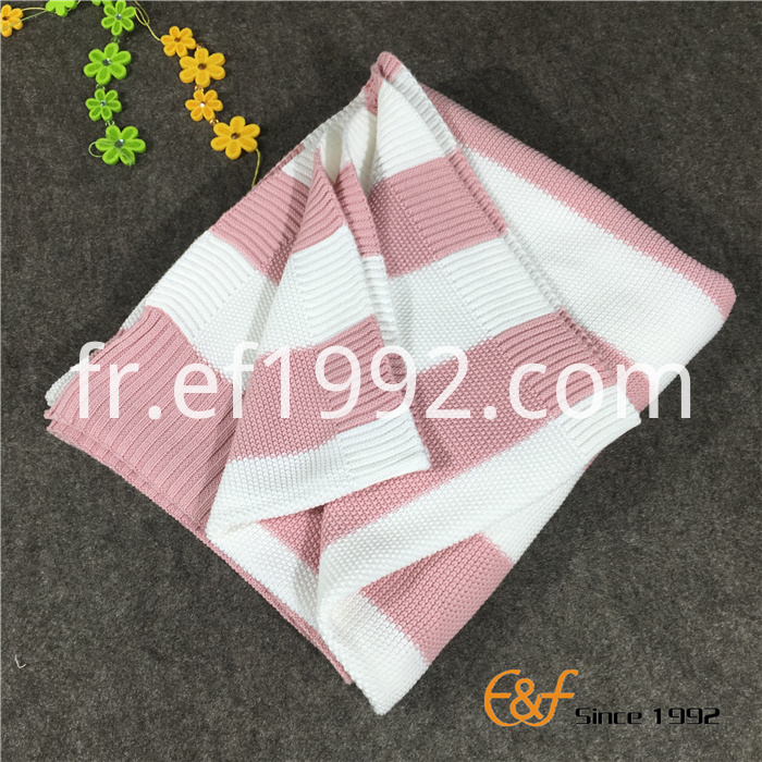 cotton knitted blanket