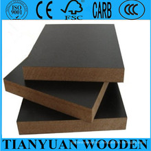 Color negro laminado 3 mm MDF 4 * 8 E1 / E0 / E2