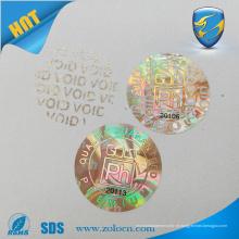 Rótulos de segurança de holograma void customed