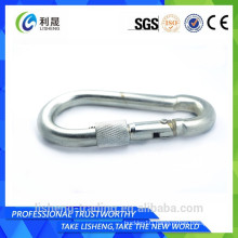 Mini stainless steel key ring snap hook