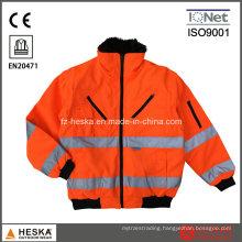 Custom Bomber Hivi 3in1 Reflective Security Jacket