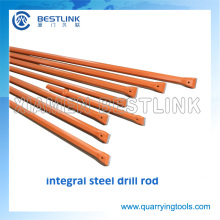 China Factory Stone Drilling Rod Integral Steel for Quarrying