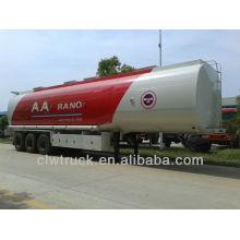 Semi-remolque de tanque de aceite tri-axle 45tons, semirremolque cisterna de combustible para la venta