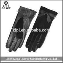 Nuevos guantes de cuero de las señoras del precio bajo de la manera del diseño tamaño 9